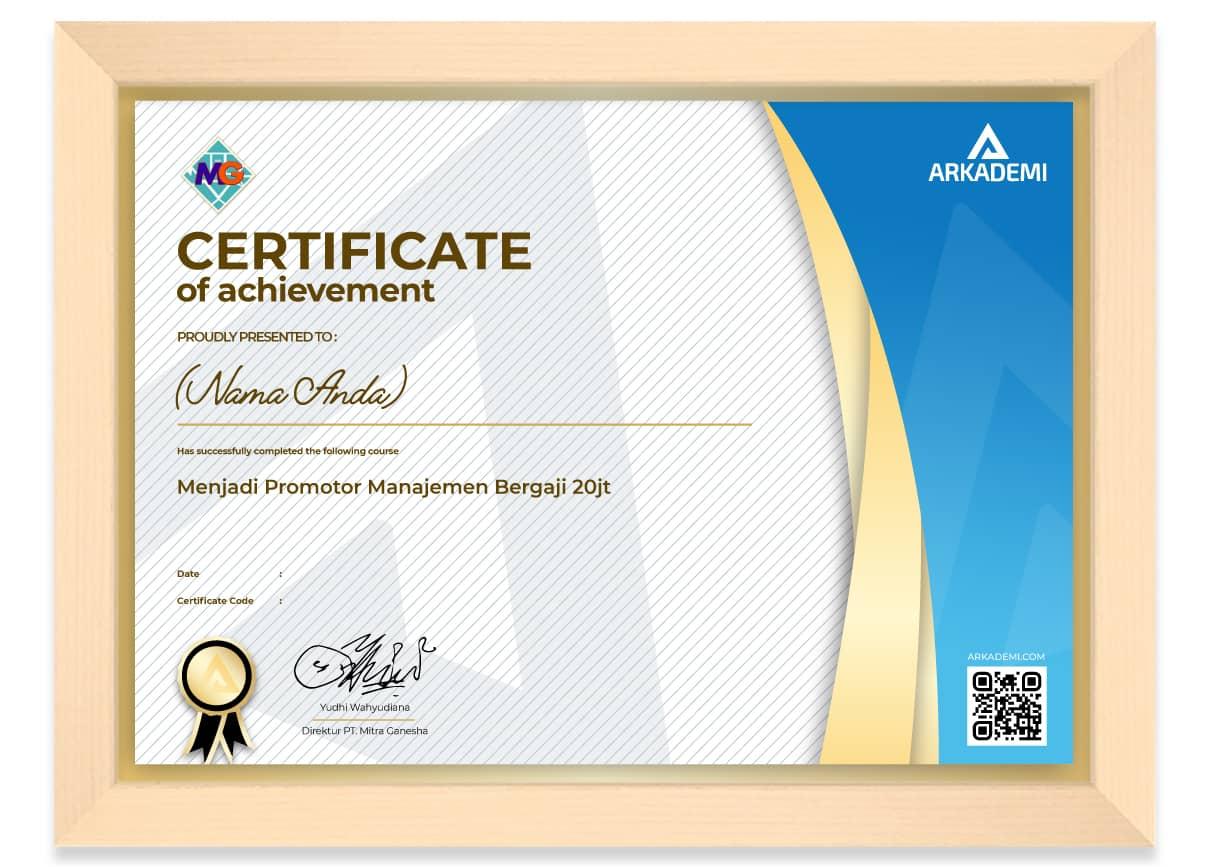 Arkademi Kursus Online - Sertifikat Mitra Ganesha - Menjadi Promotor Manajemen Bergaji 20jt_FRAME
