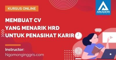 Arkademi Kursus Online - Thumbnail Membuat CV yang Menarik HRD untuk Penasihat Karir