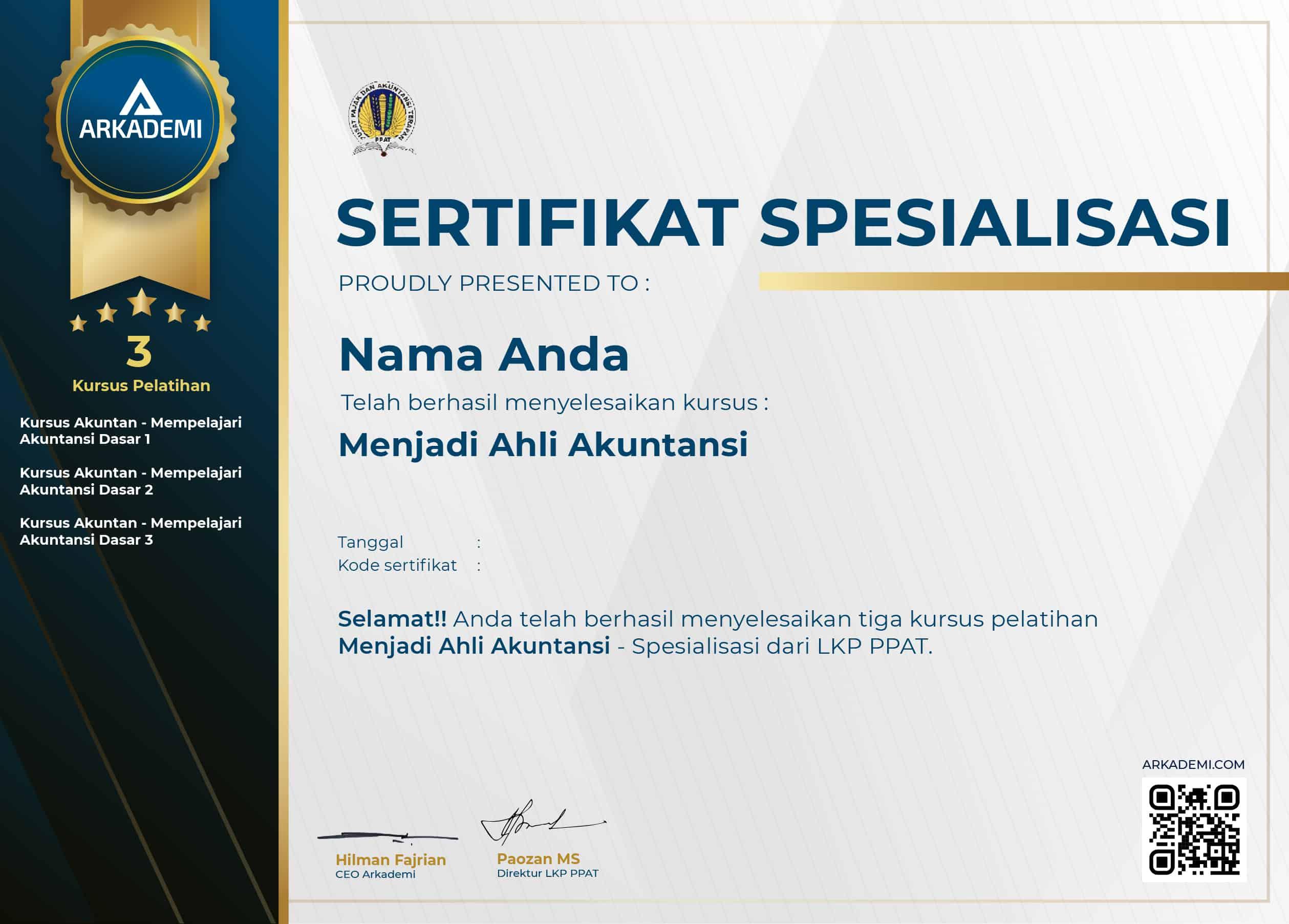 template sertifikat arkademi